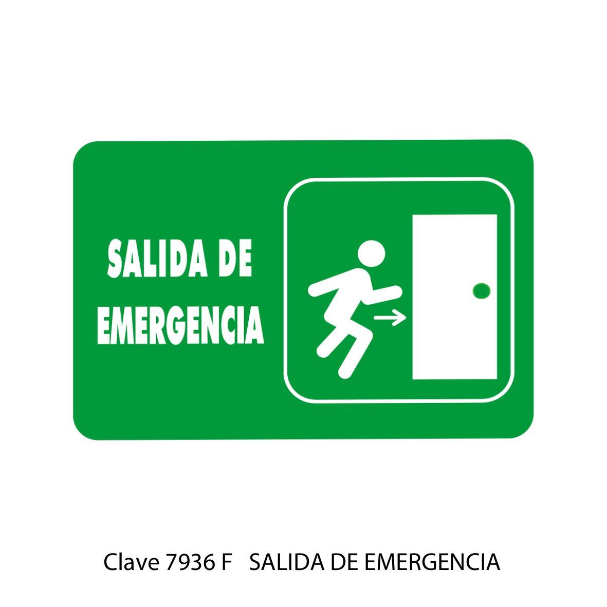 Señal Salida de Emergencia Modelo 7936 F - Sablón