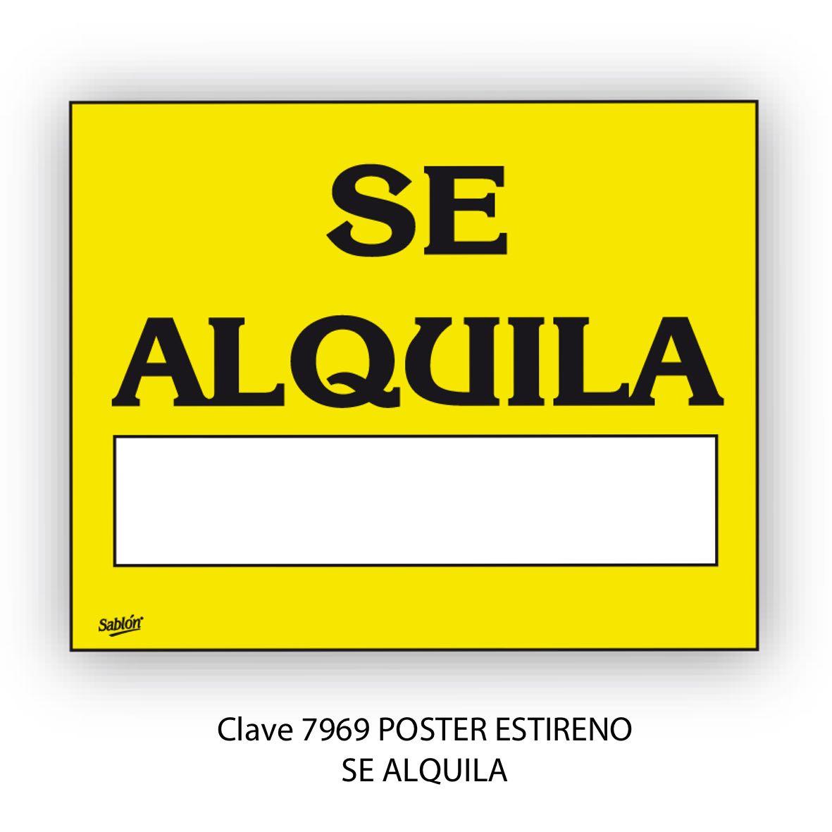Señal Se Alquila Modelo 7969 - Sablón