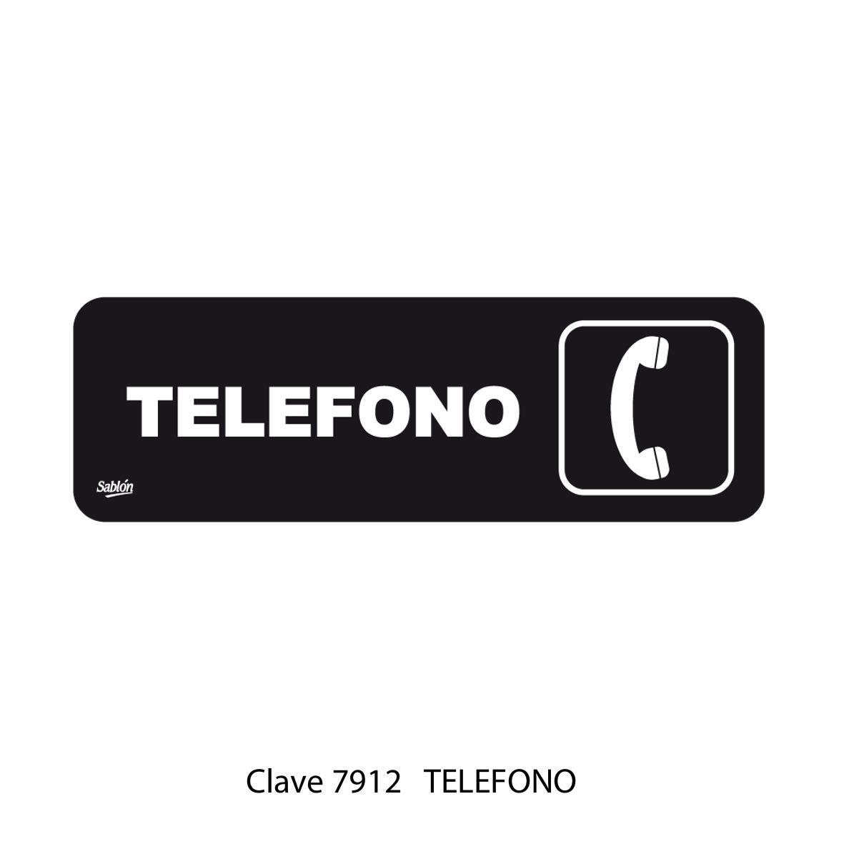 Señal Teléfono Modelo 7912 - Sablón