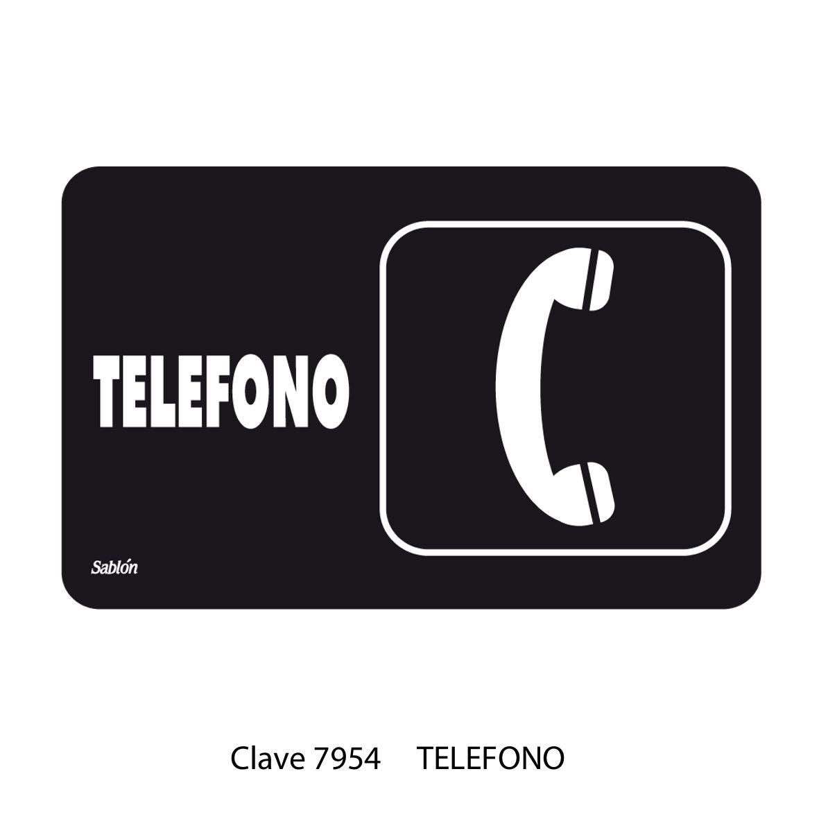 Señal Teléfono Modelo 7954 - Sablón