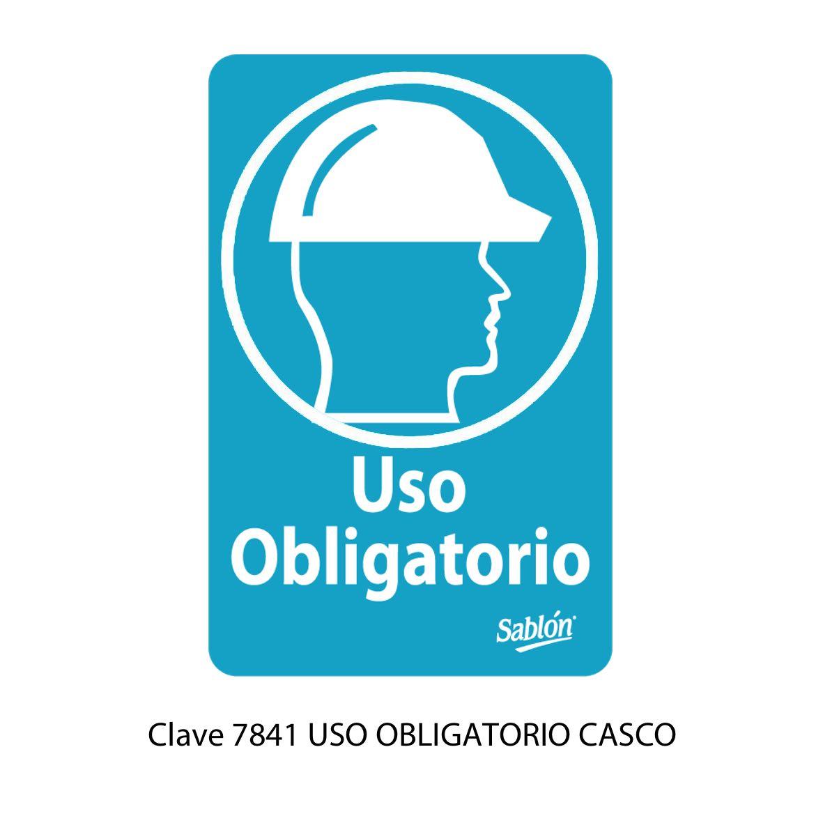 Señal Uso Obligatorio de Casco Modelo 7841 - Sablón