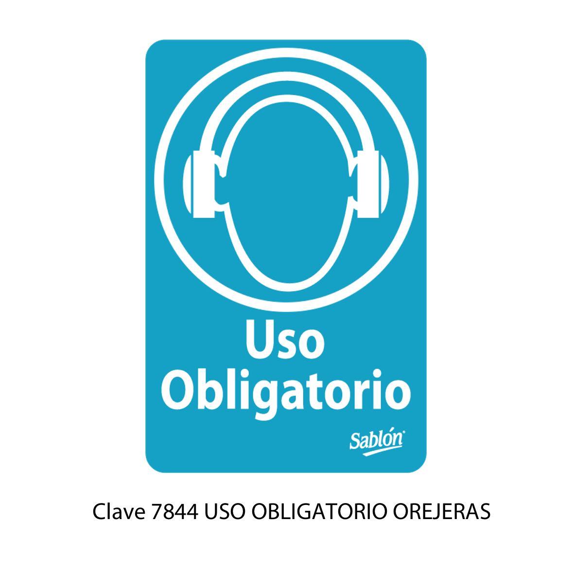Señal Uso Obligatorio de Orejeras Modelo 7844 - Sablón