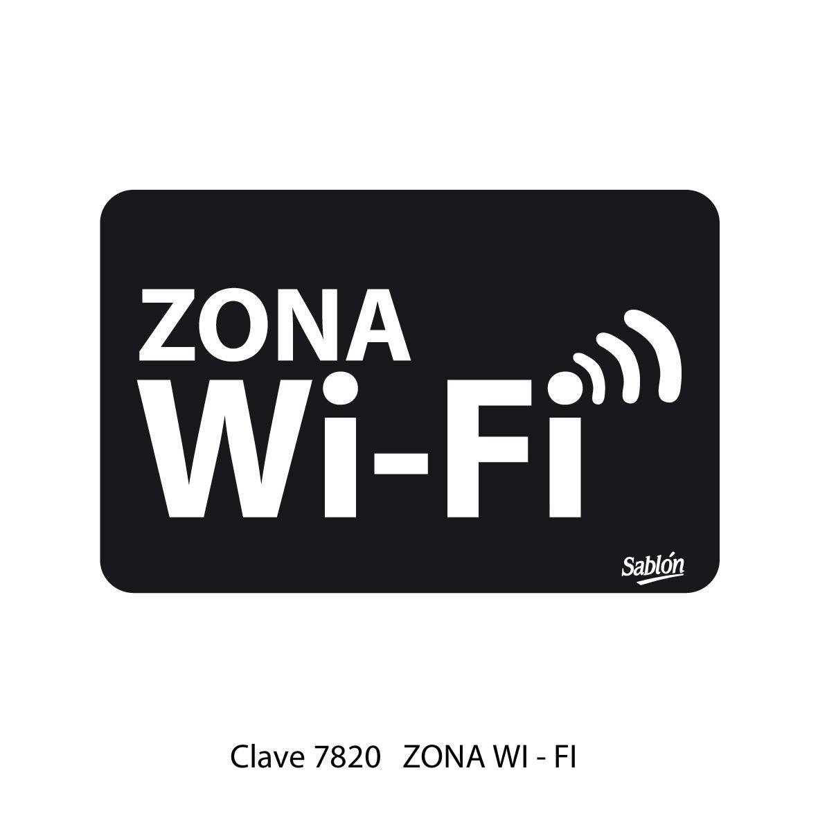 Señal Zona Wi Fi Modelo 7820 - Sablón