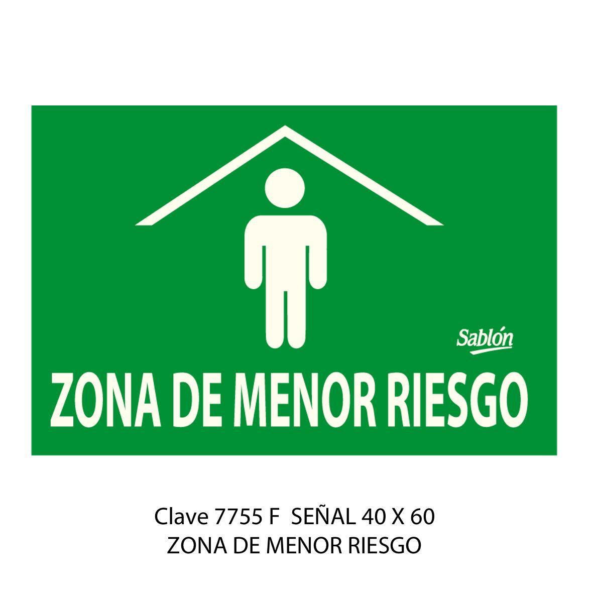 Señal Zona de Menor Riesgo Modelo 7755 F - Sablón