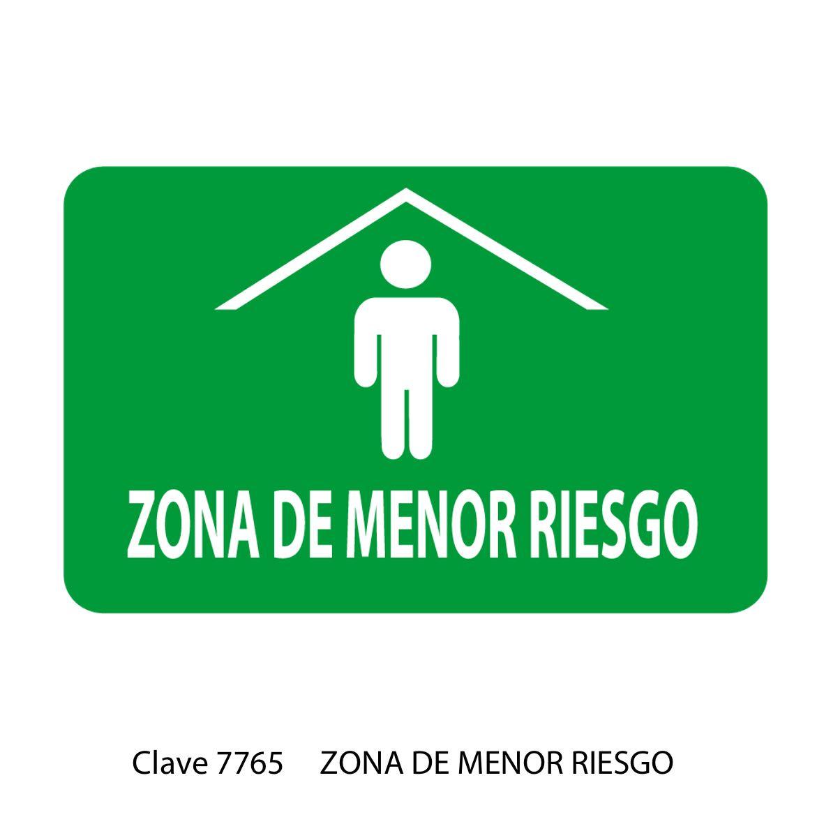 Señal Zona de Menor Riesgo Modelo 7765 - Sablón