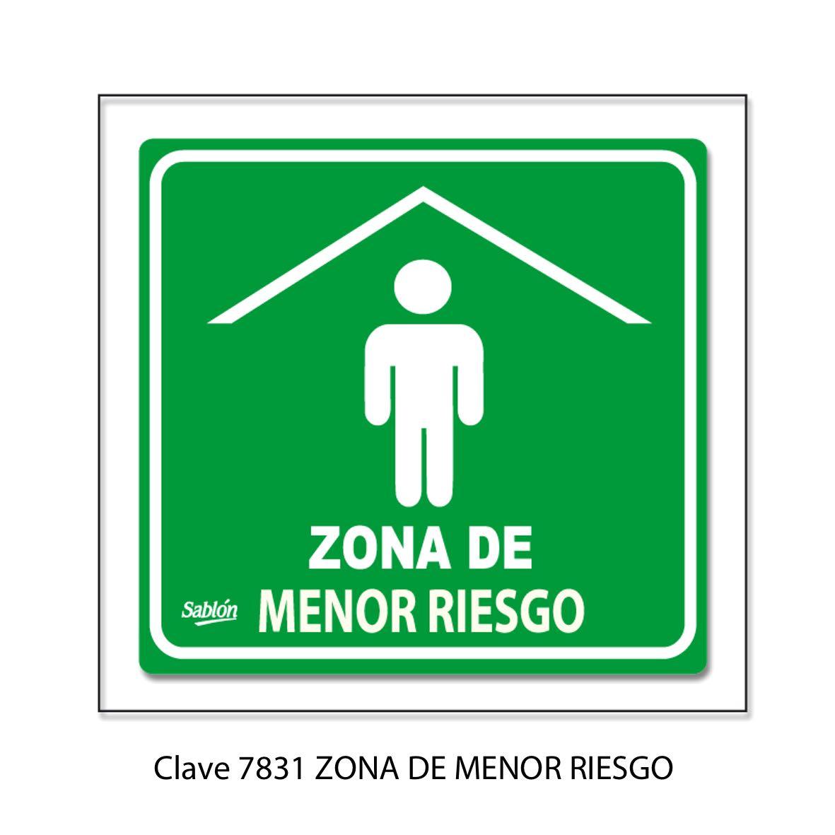 Señal Zona de Menor Riesgo Modelo 7831 - Sablón