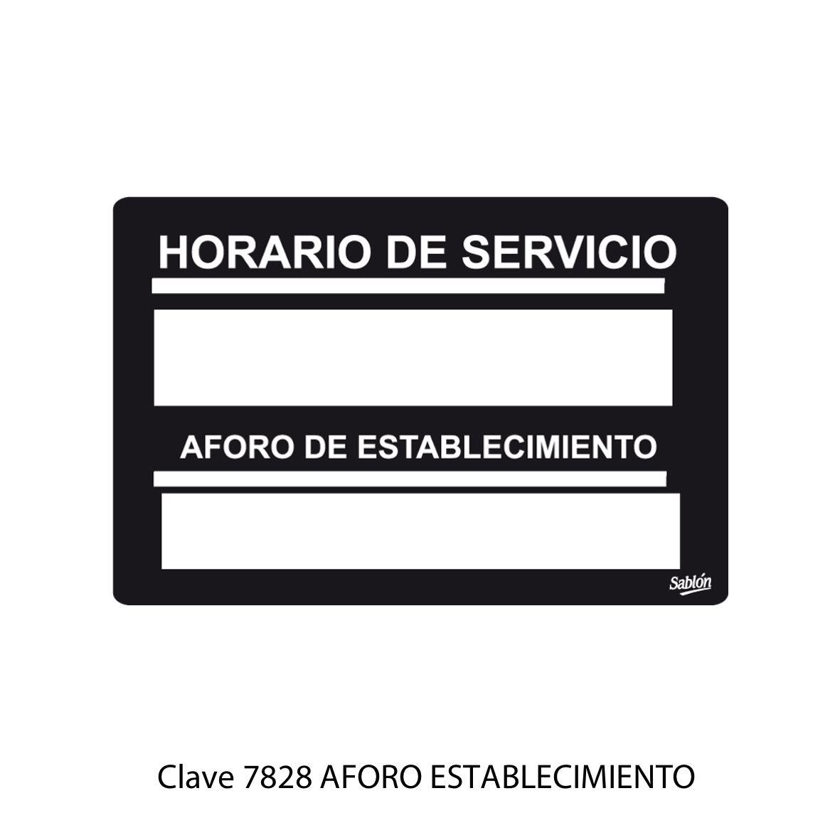 Señal de Aforo del Establecimiento Modelo 7828 - Sablón