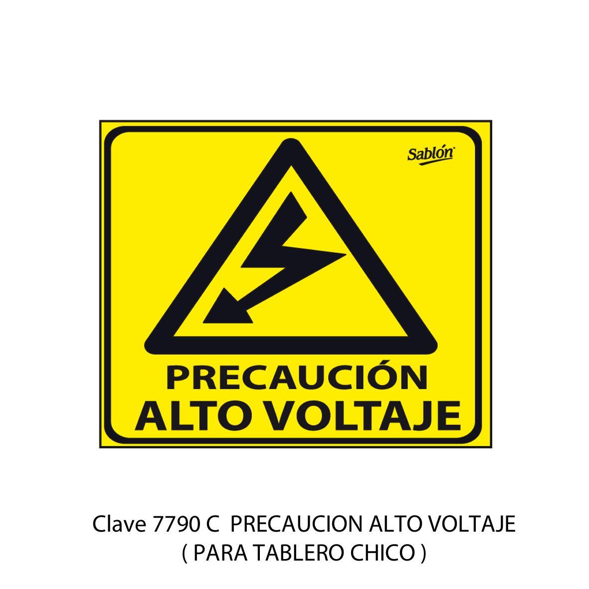 Señal de Alto Voltaje Chica Modelo 7790 C - Sablón