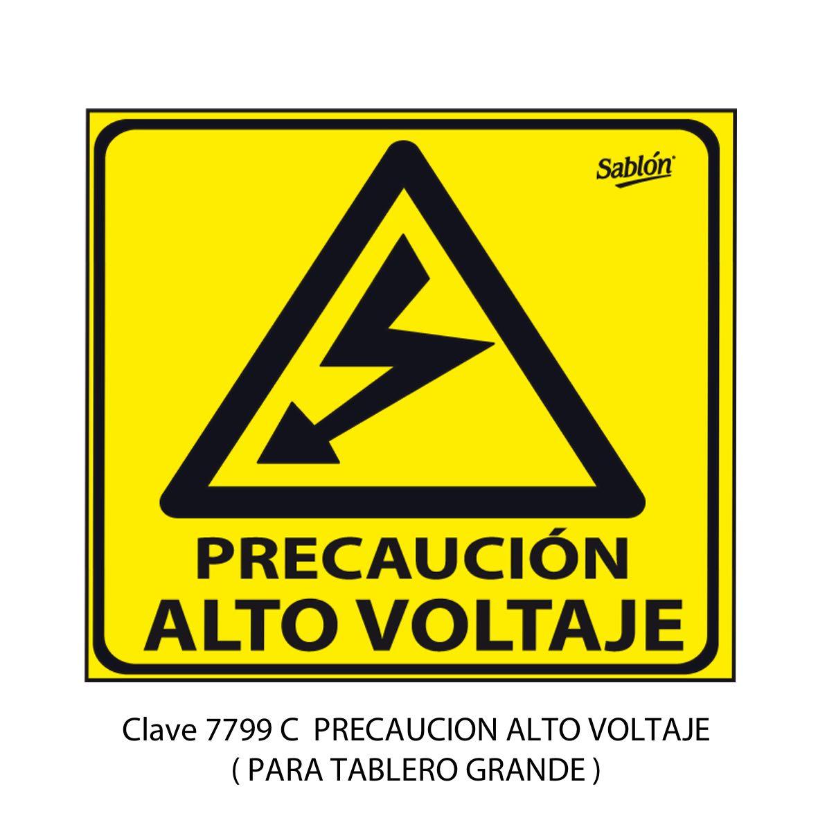 SeÑal de Alto Voltaje Grande Modelo 7799 C - Sablón
