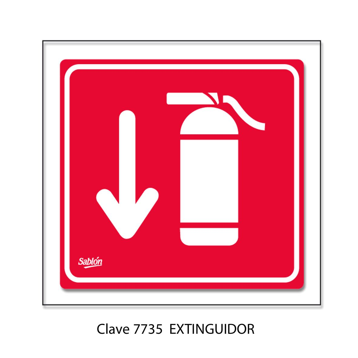 Señal de Extinguidor Modelo 7735 - Sablón