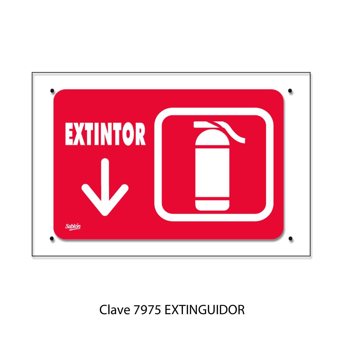 Señal de Extinguidor Modelo 7975 - Sablón