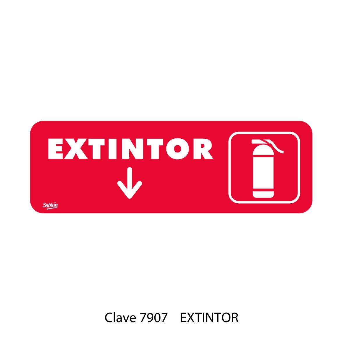 Señal de Extintor Modelo 7907 - Sablón