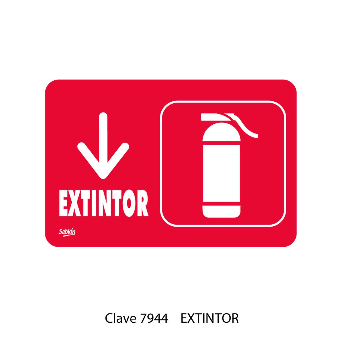 Señal de Extintor Modelo 7944 - Sablón