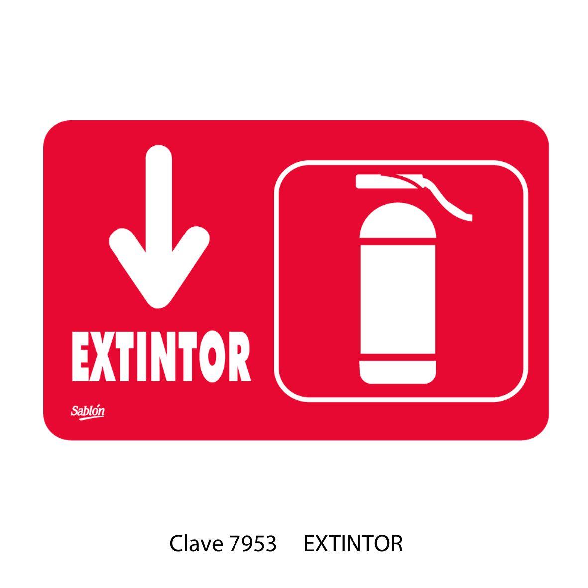 Señal de Extintor Modelo 7953 - Sablón