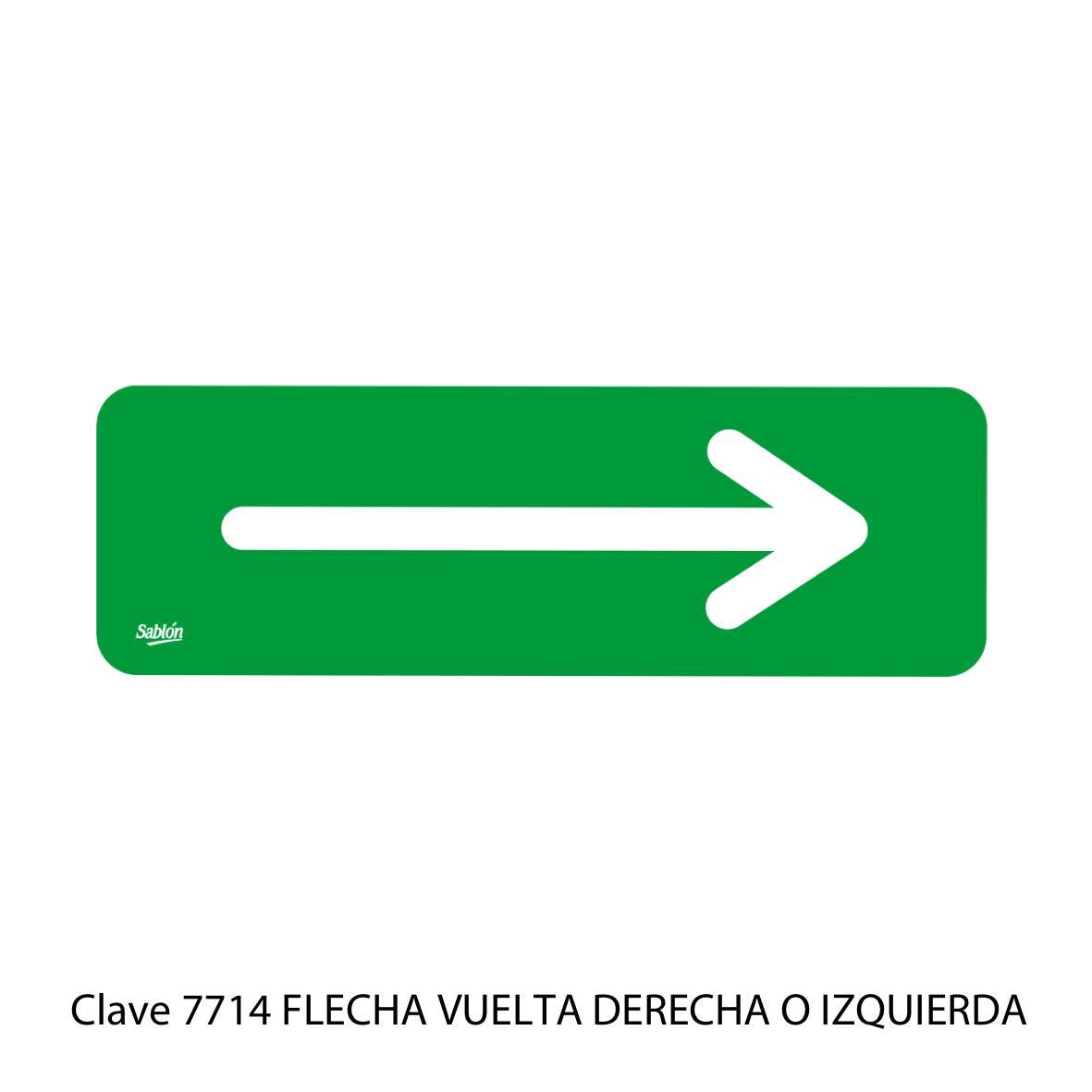 Señal de Flecha Vuelta Derecha o Vuelta Izquierda Modelo 7714 - Sablón