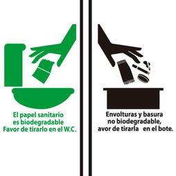 Señal icono PAPELES EN WC - Sablón