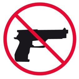 Señal icono no armas - Sablón