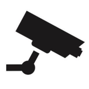 Señal icono cámara de vigilancia - Sablón