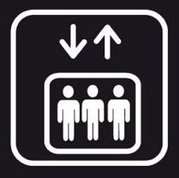 Señal icono elevador - Sablón