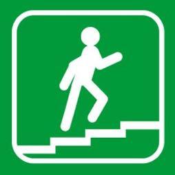 Señal icono escalera - Sablón