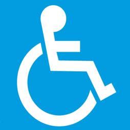 Señal icono personas con discapacidad - Sablón