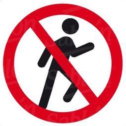 Señal icono prohibido el paso - Sablón
