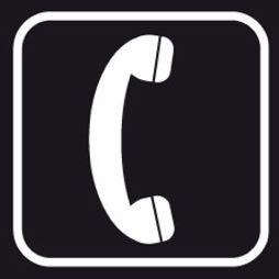Señal icono teléfono - Sablón