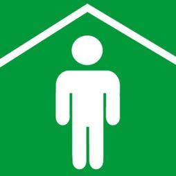 Señal icono zona de menor riesgo - Sablón