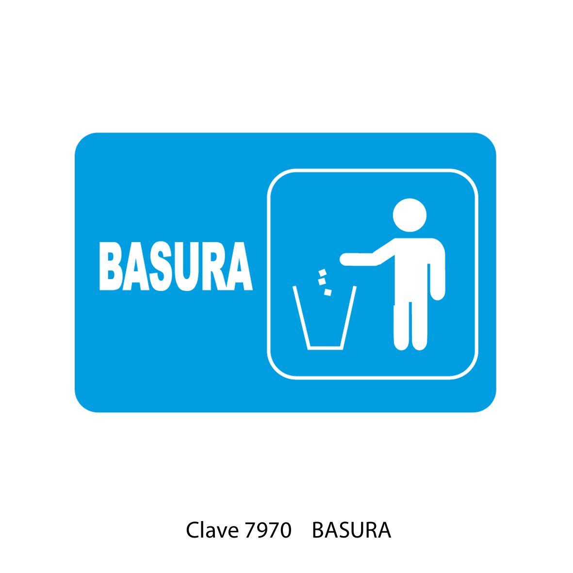 Señal para Basura Modelo 7970 - Sablón