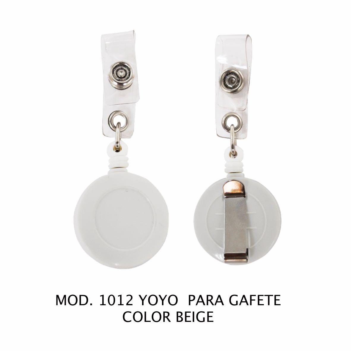 Yoyo para Gafete Color Beige Modelo 1012 - Sablón