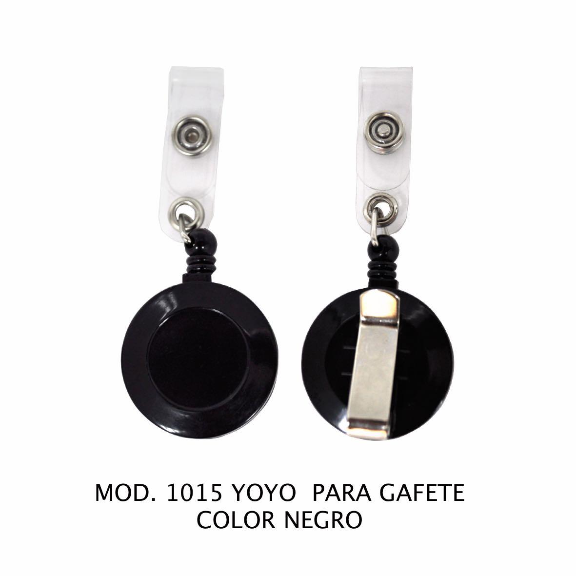 Yoyo para Gafete Color Negro Modelo 1015 - Sablón