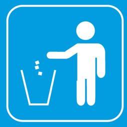 señal icono basura - Sablón