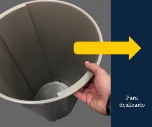Desplaza de manera sencilla el bote de basura redondo de 45 litros Sablón