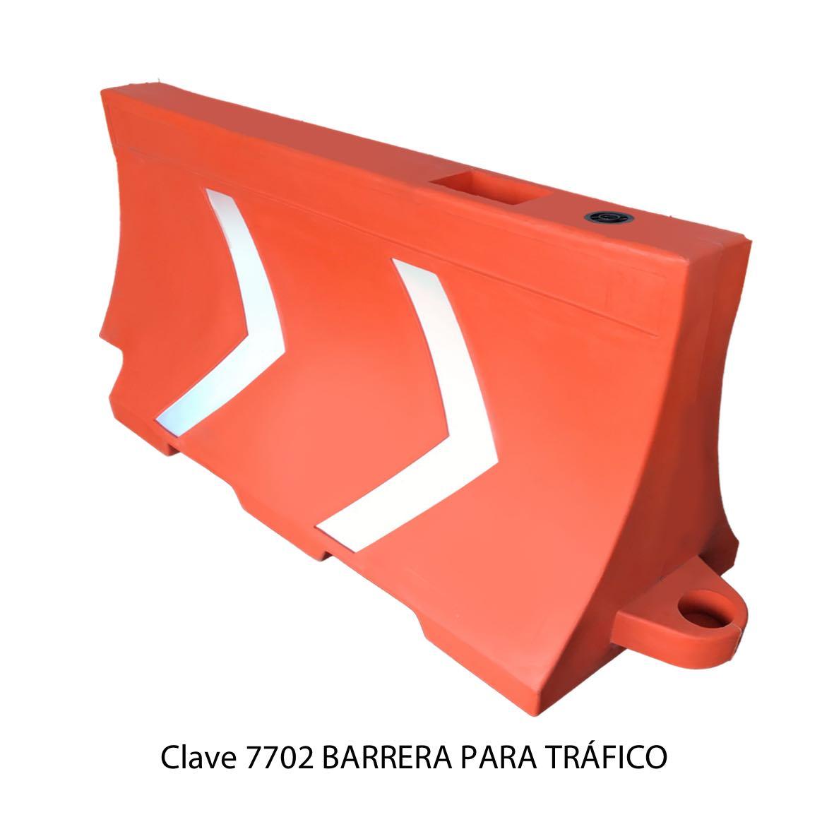 Barrera para Tráfico color naranja Clave 7702 Sablón