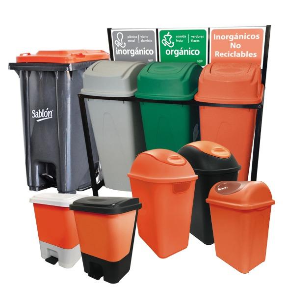 Pon tus Inorgánicos NO Reciclables en los botes de color naranja de Sablón