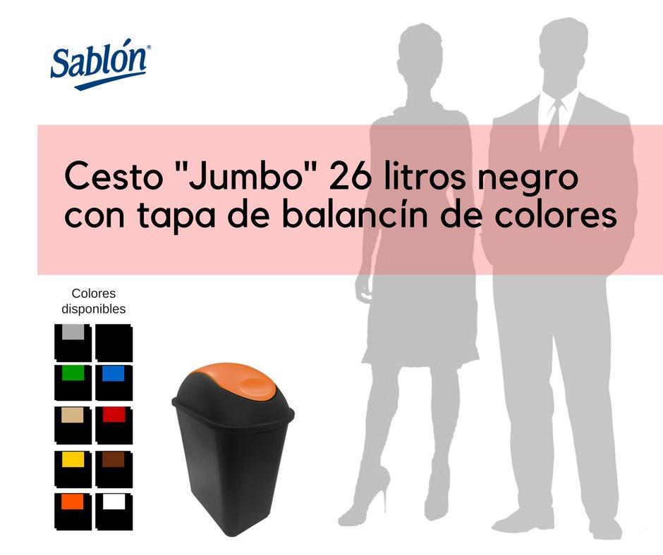 Bote de Basura jumbo con tapa balancín en varios colores - Sablón