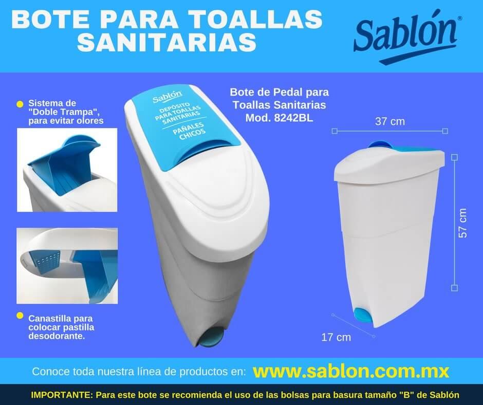 Nuevo bote de basura para toallas sanitarias - Sablón