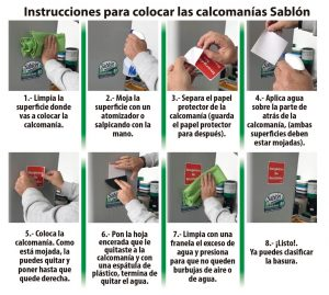 Instructivo para colocar calcomanías Sablón