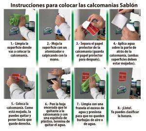 Instructivo para colocar calcomanías Sablón