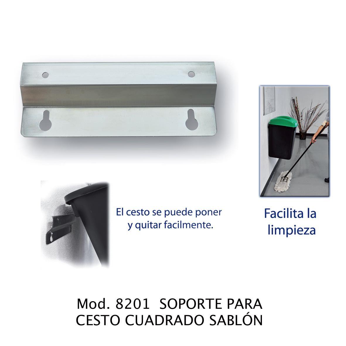SOPORTE METALICO PARA PARED SABLON