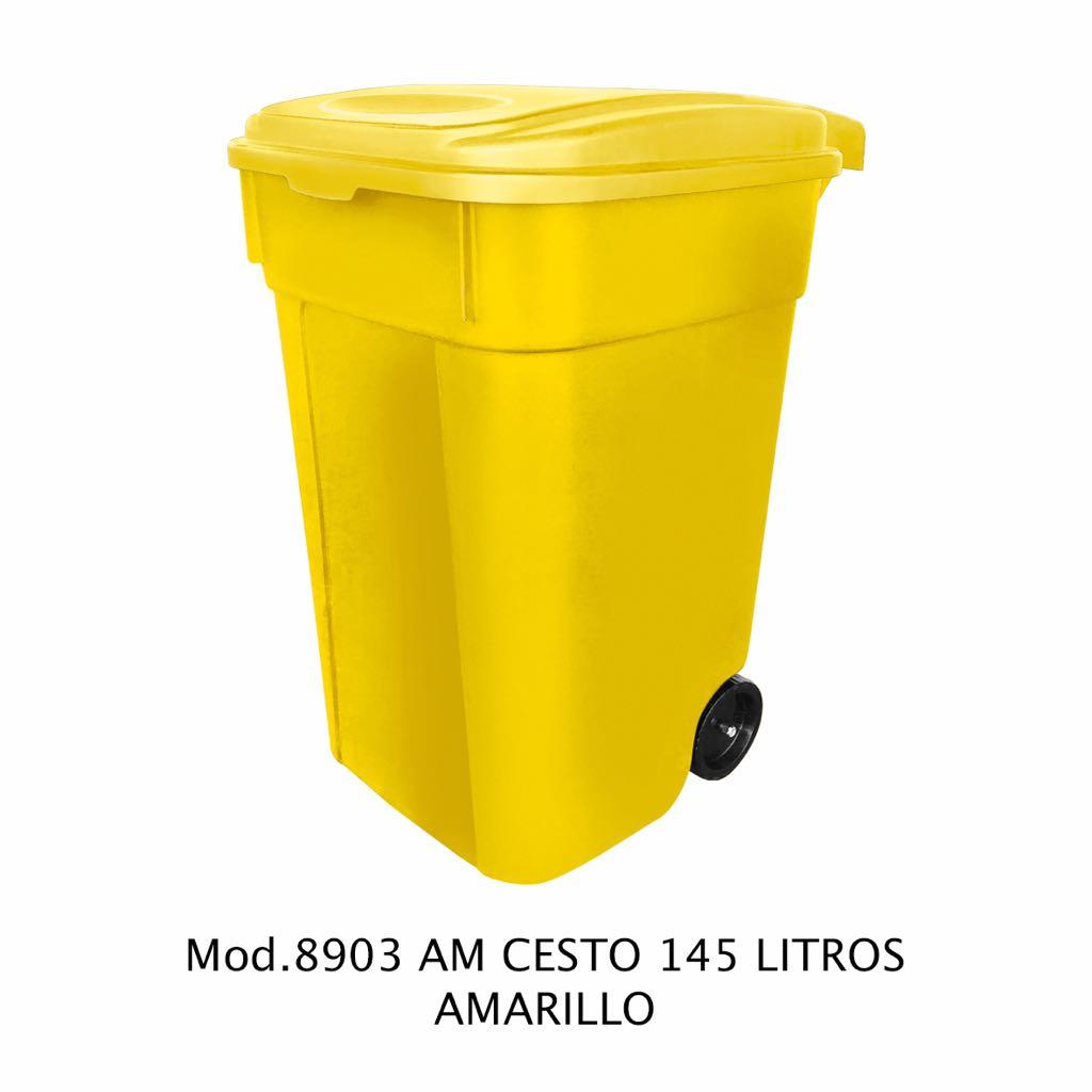 Contenedor de 145 litros amarillo - modelo 8903 AM - Sablón