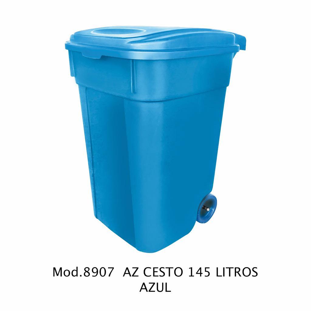 Contenedor de 145 litros azul - modelo 8907 AZ - Sablón