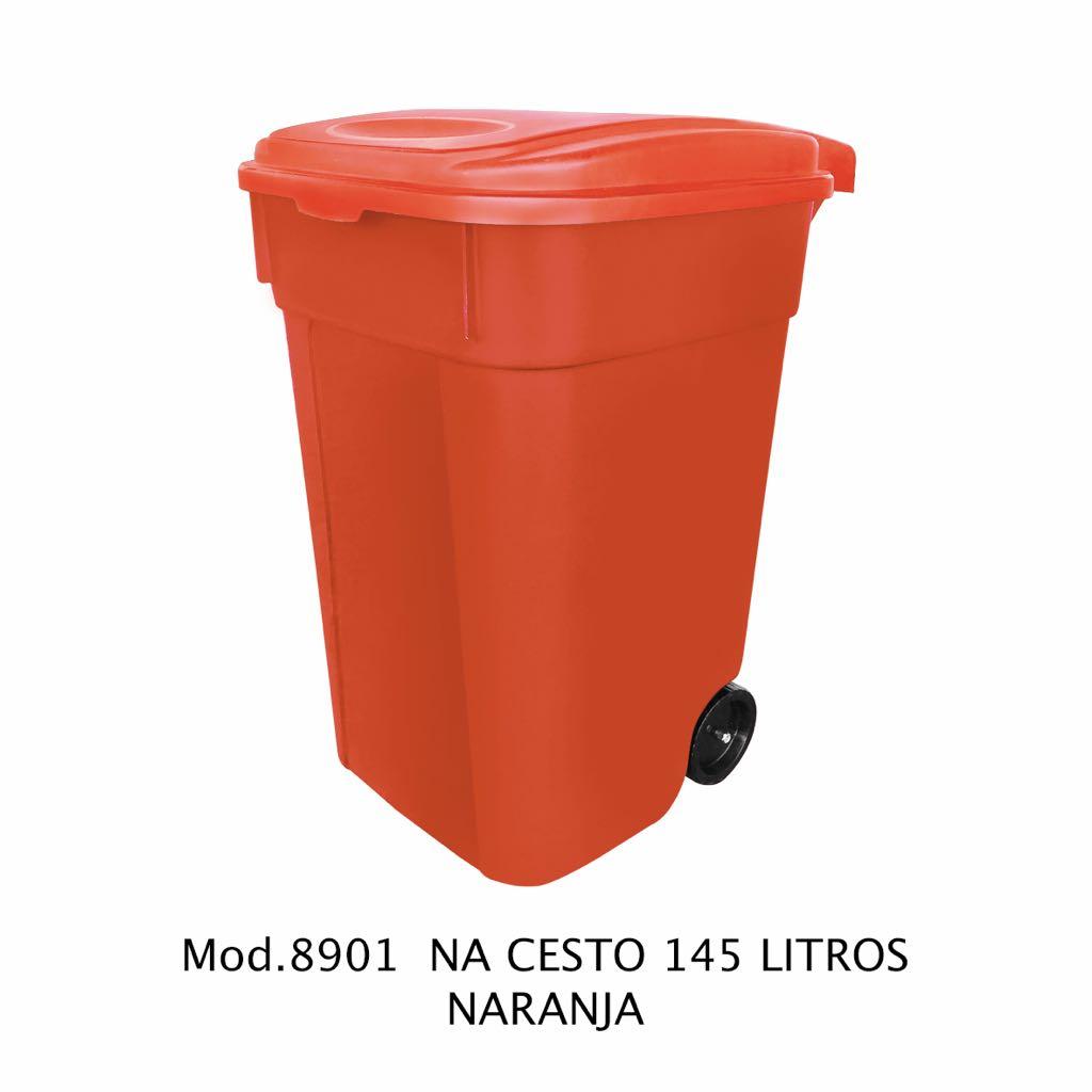 Contenedor de 145 litros naranja - modelo 8901 NA - Sablón