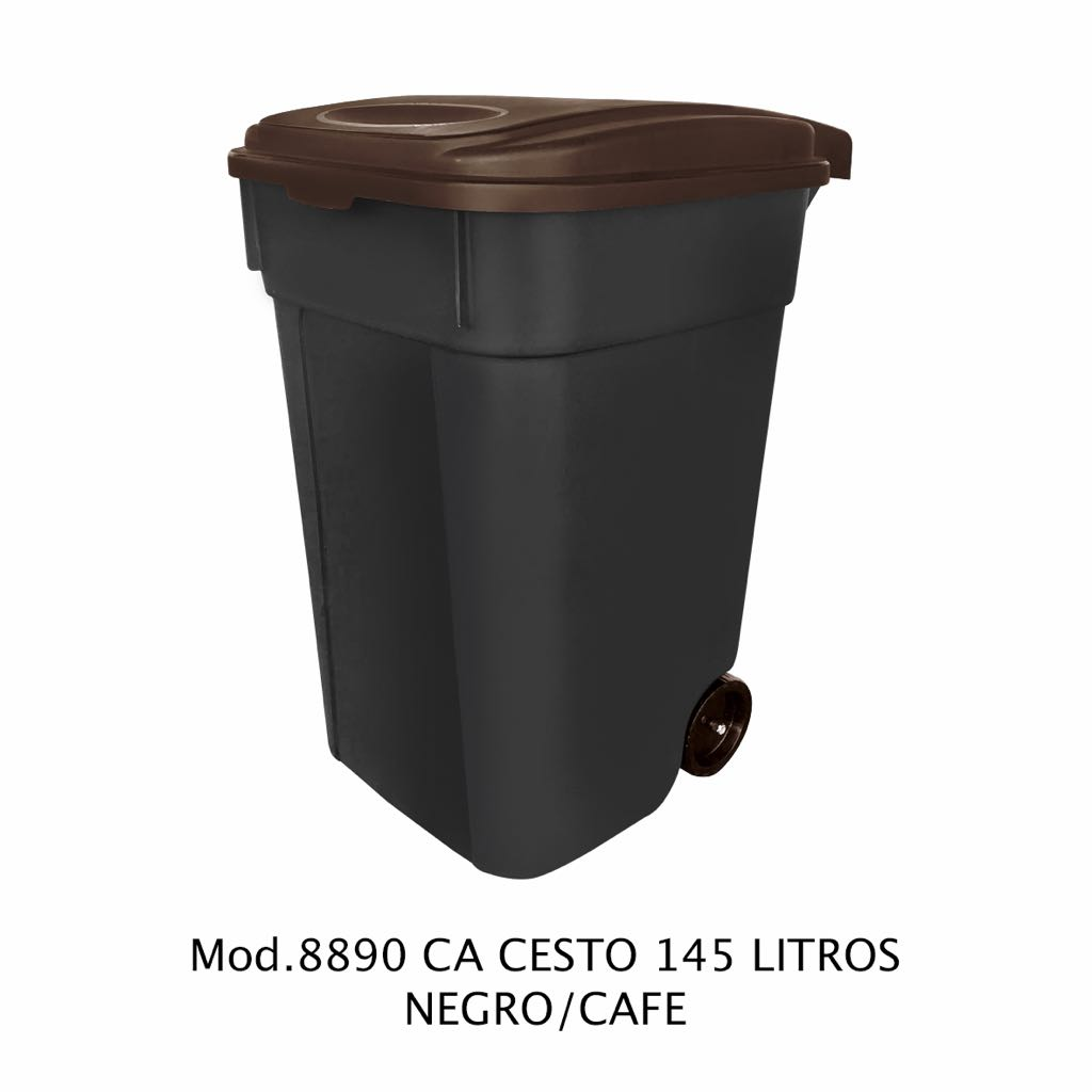 Contenedor de 145 litros negro y cafe - modelo 8890 CA - Sablón
