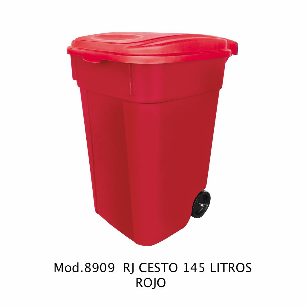 Contenedor de 145 litros rojo - modelo 8909 RJ - Sablón