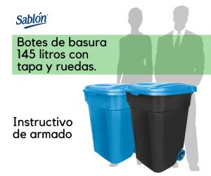 Instructivo para botes de basura de 145 litros de Sablón