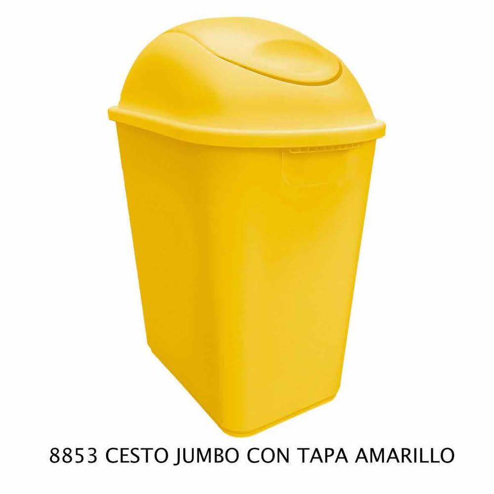 Bote de basura Jumbo color amarillo modelo 8852 de Sablón