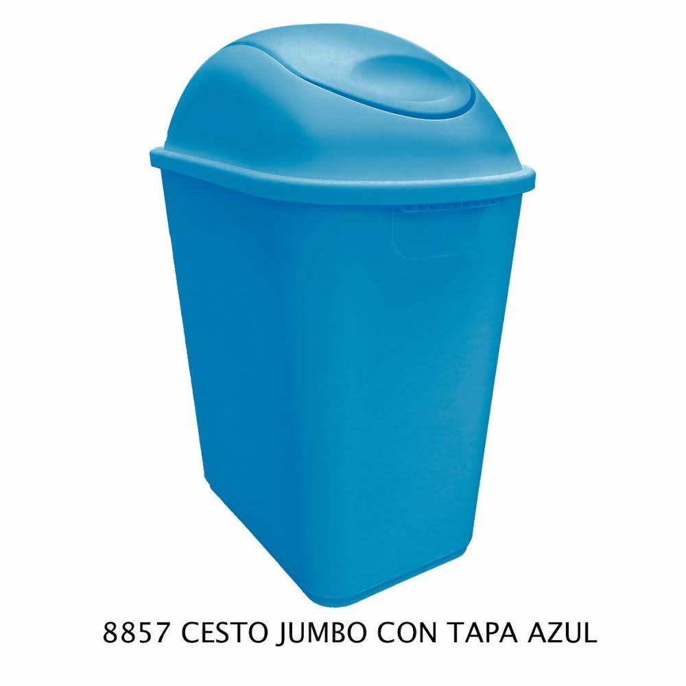 Bote de basura Jumbo color azul modelo 8857 de Sablón