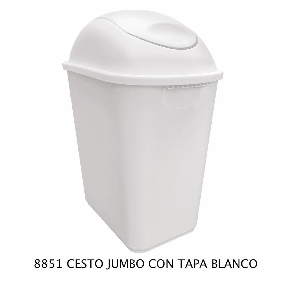 Bote de basura Jumbo color blanco modelo 8851 de Sablón