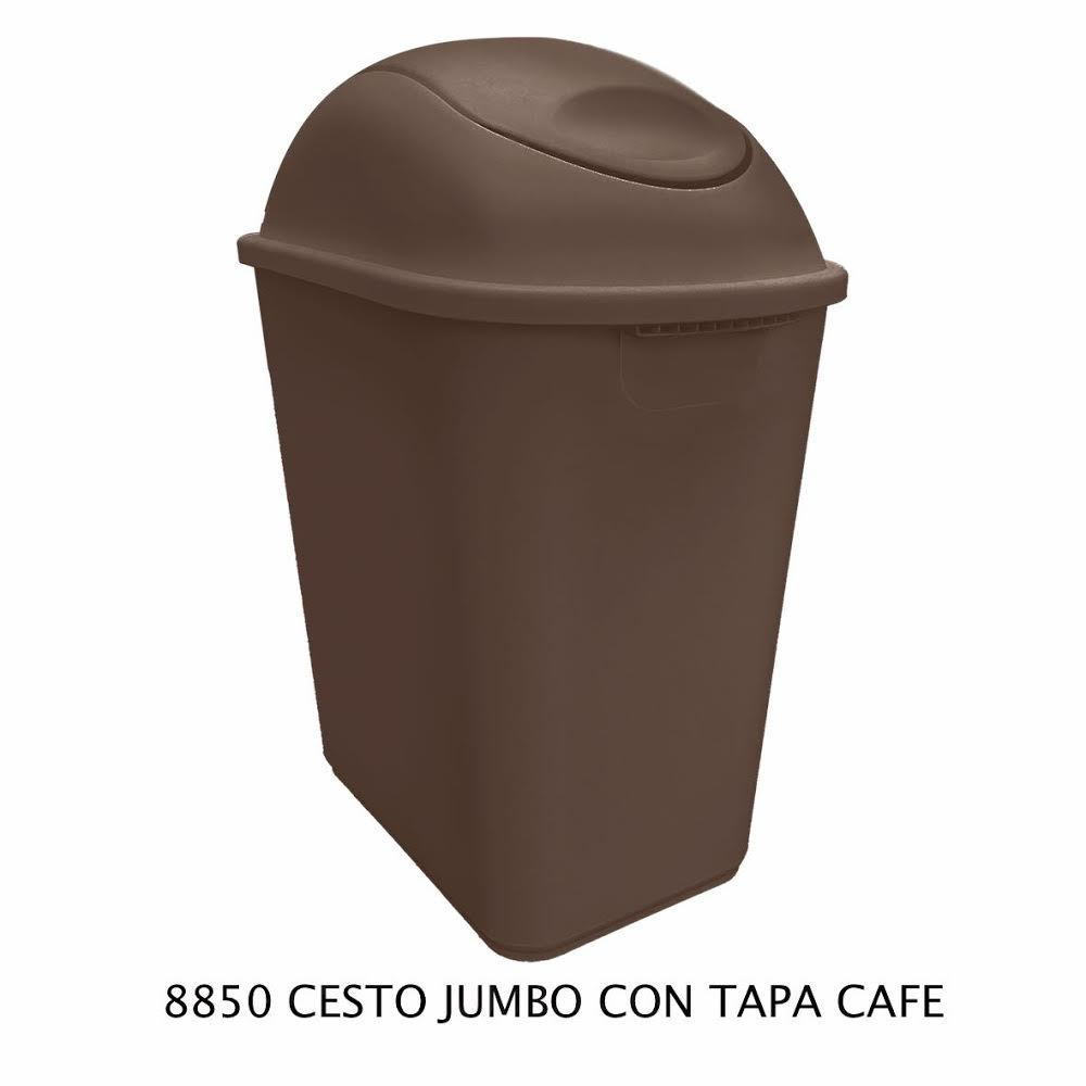 Bote de basura Jumbo color café modelo 8850 de Sablón